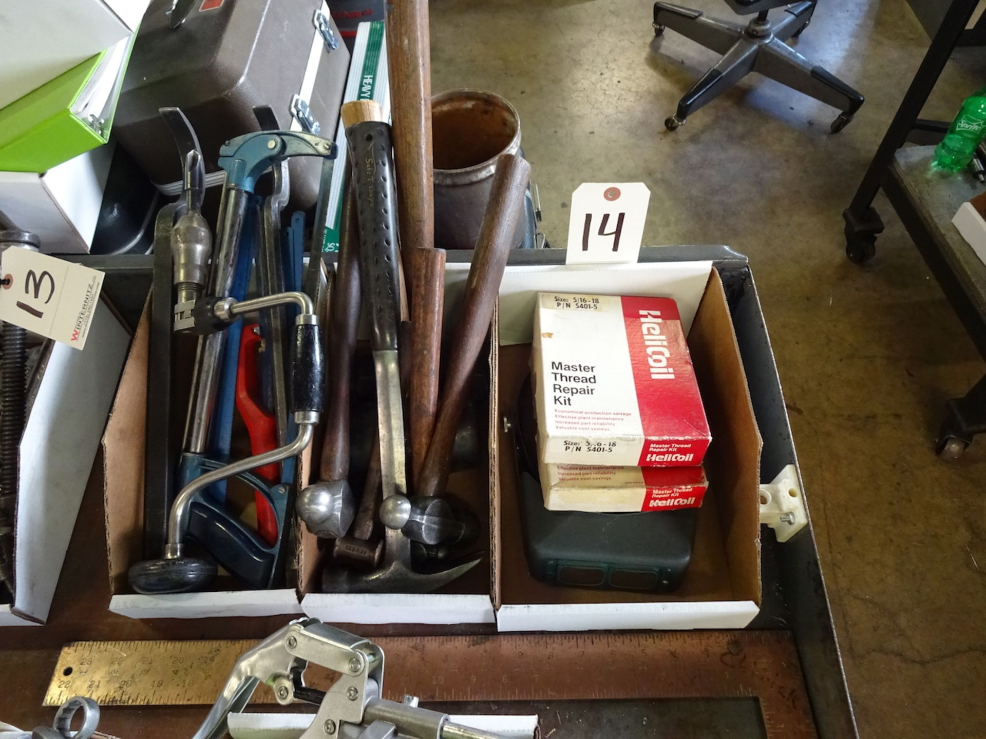 Lot 14 - LOT: PRY BARS, HAMMERS, ETC. (IN 3 BOXES)