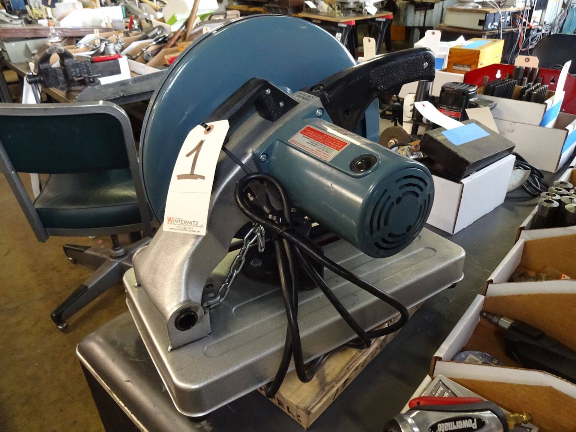 Lot 1 - ENCO 14 IN MODEL00231530 CUT-OFF SAW: 2-1/2HP, 3900 RPM, WITH BLADES