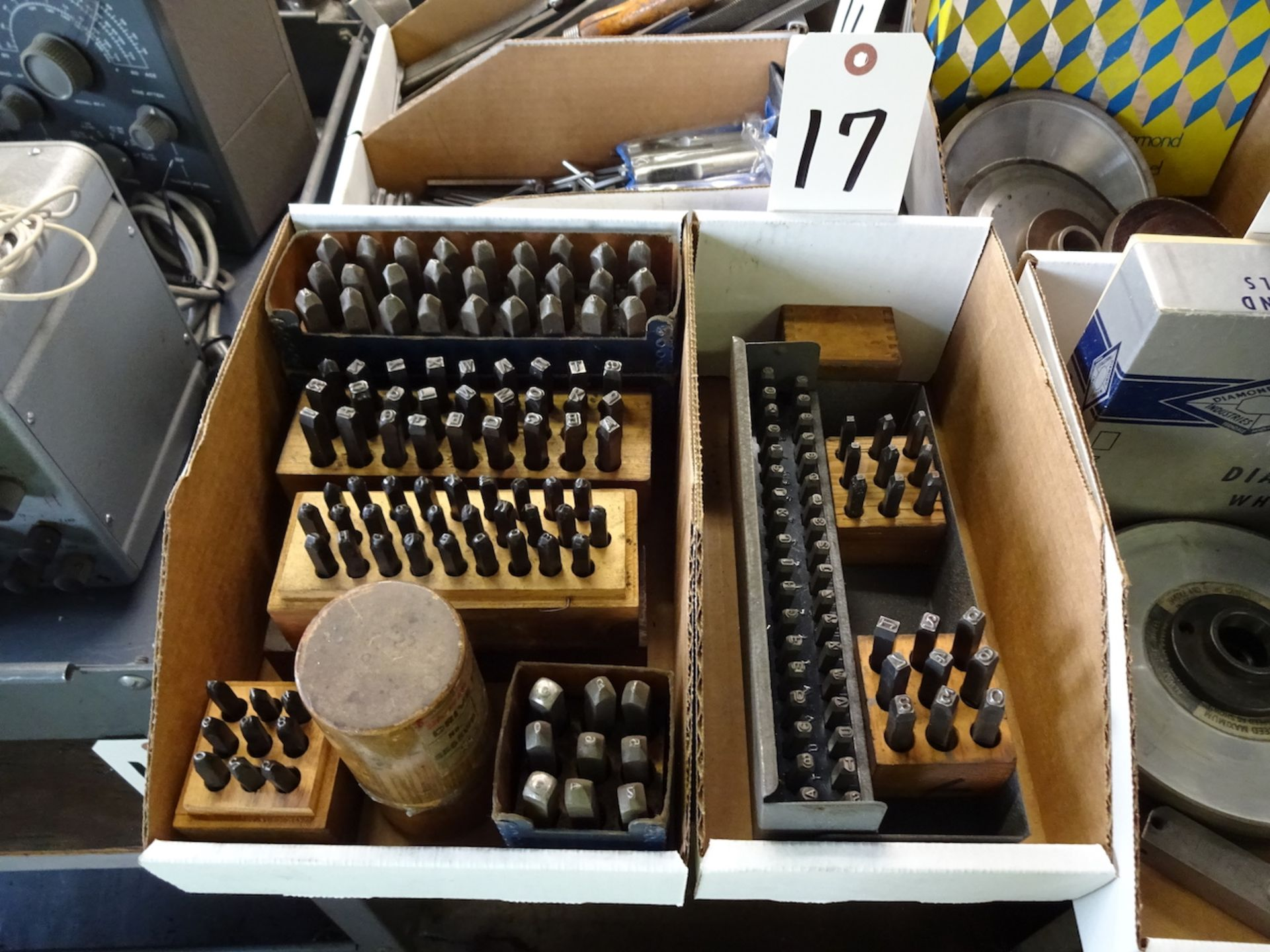 Lot 17 - LOT: ASSORTED LETTER & NUMBER PUNCHES (IN 2 BOXES)