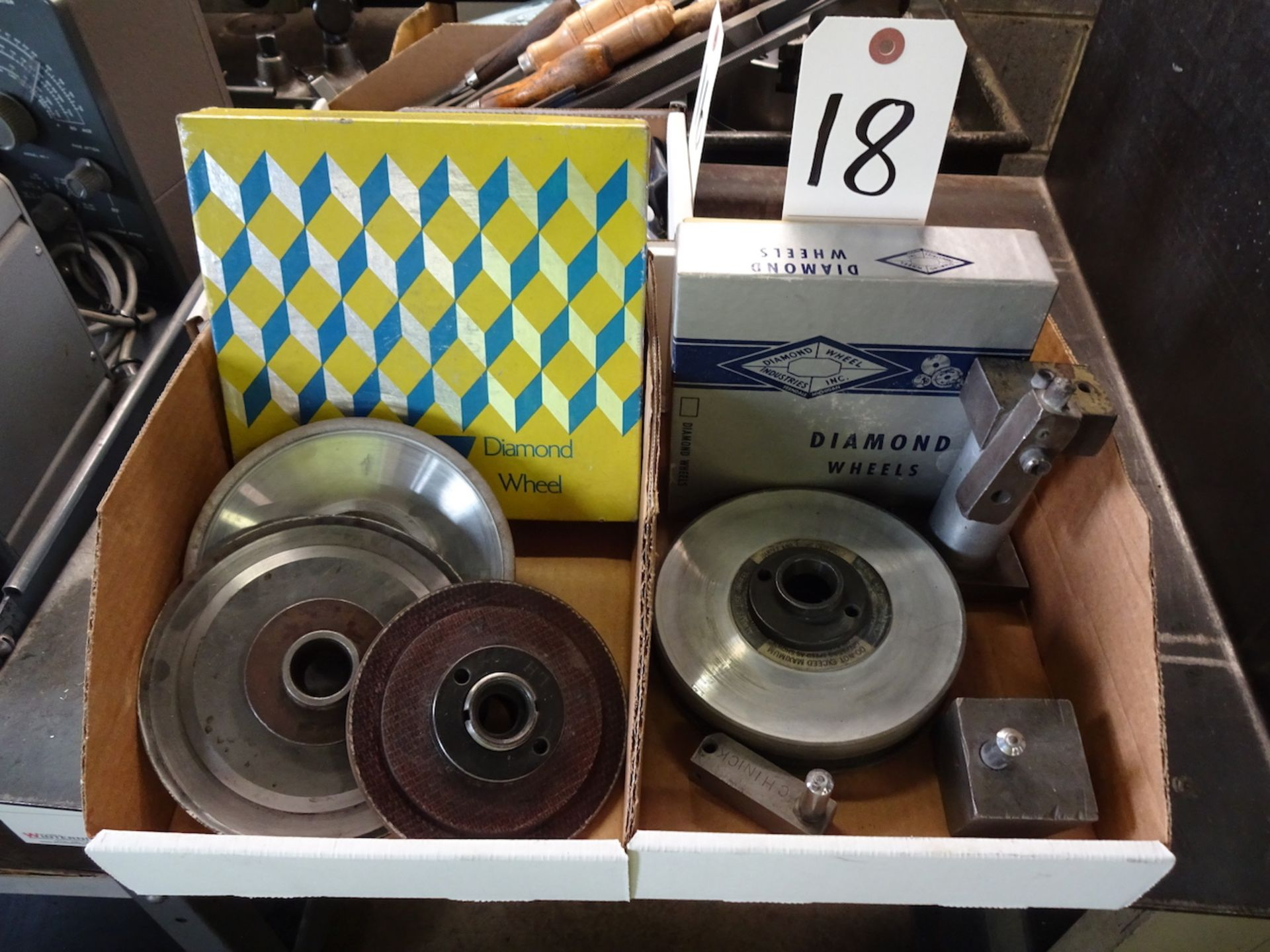 Lot 18 - LOT: ASSORTED DIAMOND WHEEL DRESSERS & DIAMOND WHEELS (IN 2 BOXES)