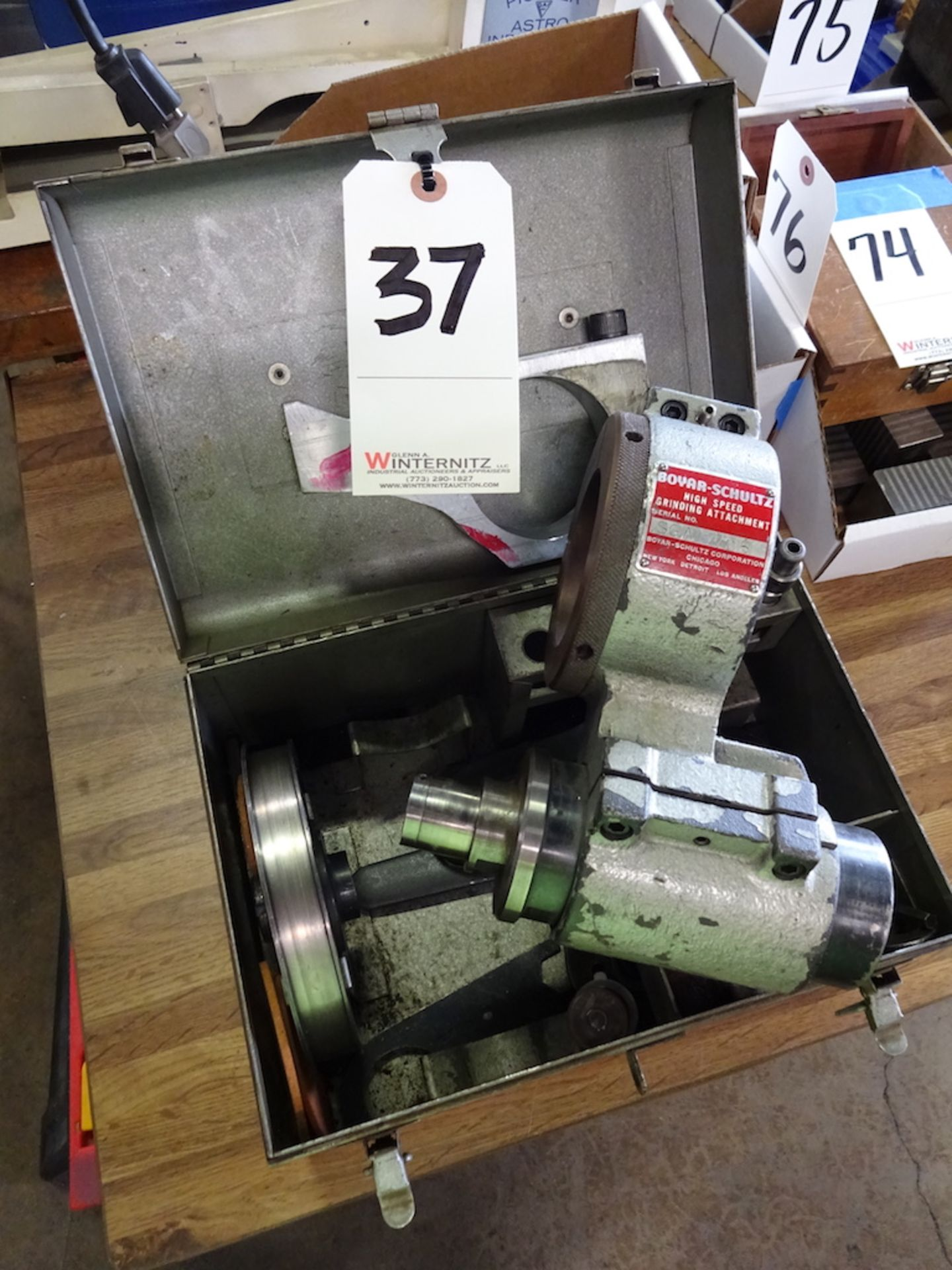 Lot 37 - BOYAR-SCHULTZ HIGH SPEED GRINDING ATTACHMENT: S/N SGA 405