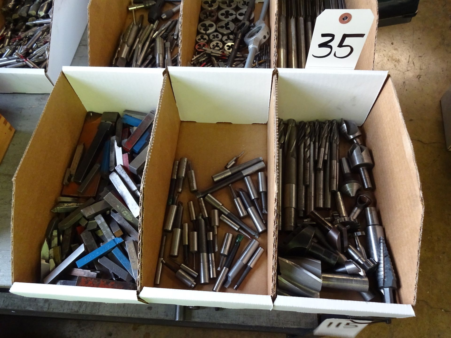 Lot 35 - LOT: ASSORTED CUTTING TOOLS (IN 3 BOXES)