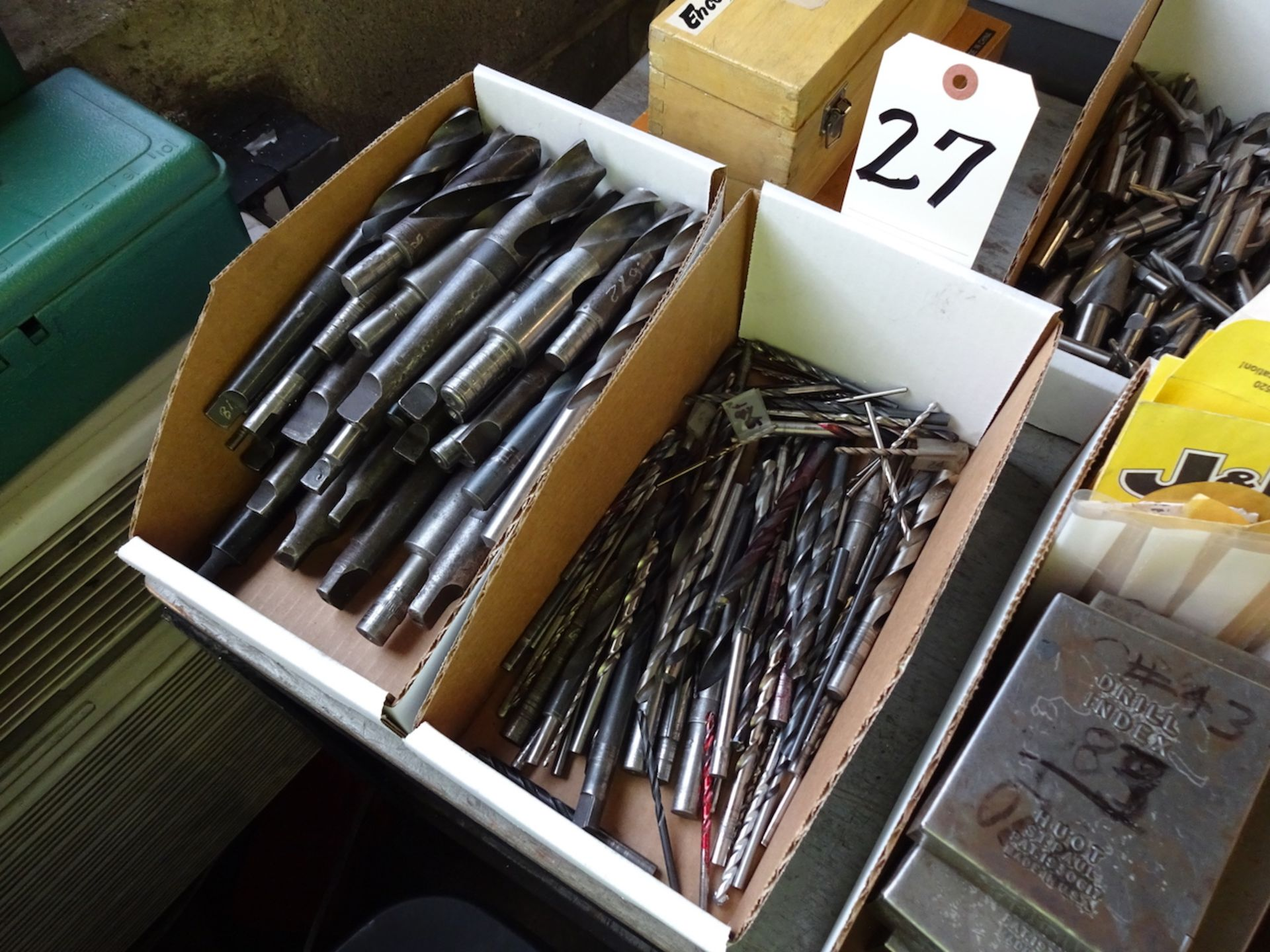 Lot 27 - LOT: ASSORTED DRILLS (IN 2 BOXES)
