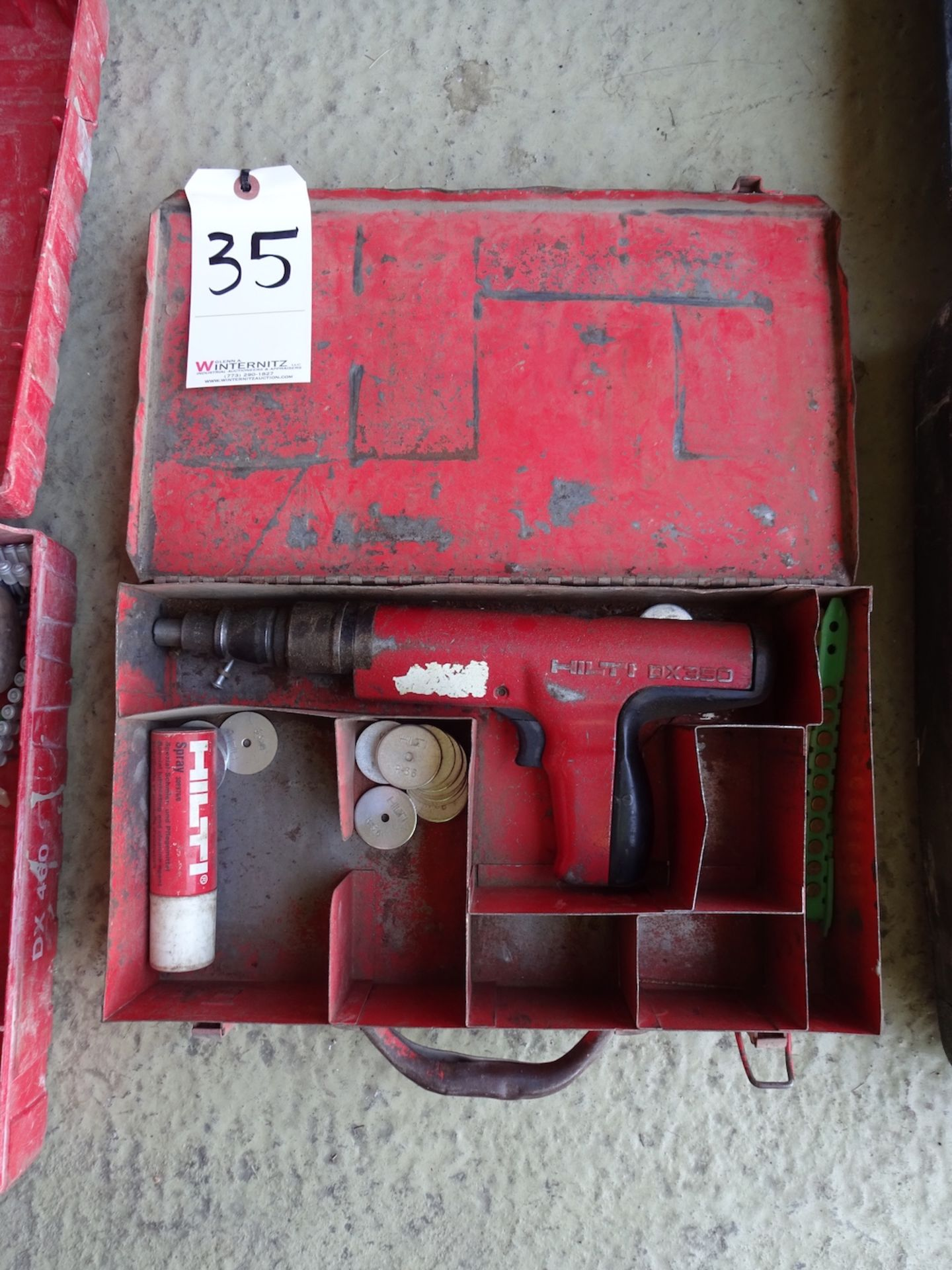 Lot 35 - HILTI DX 350 POWDER ACTUATED FASTENER WITH CASE
