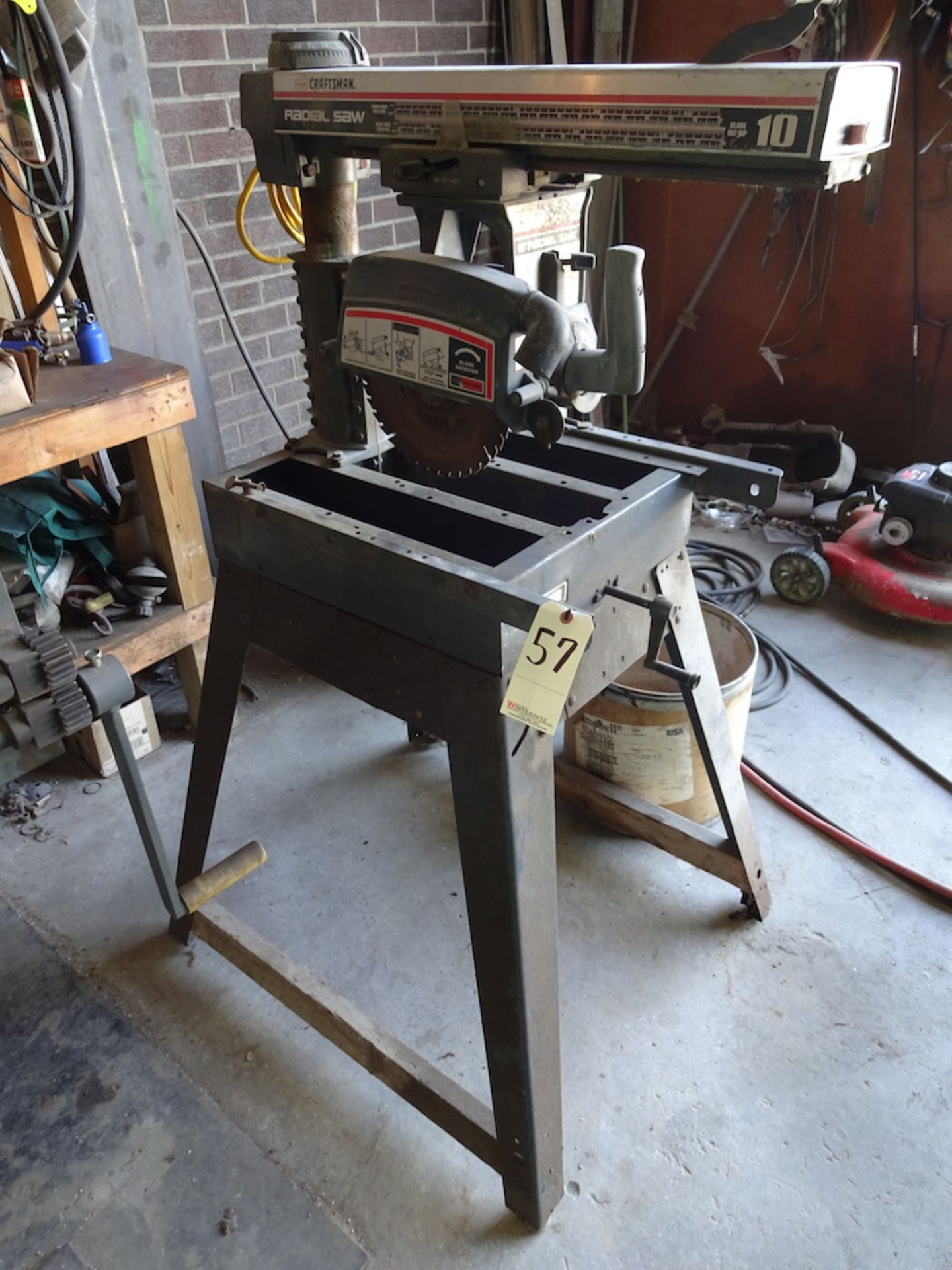 """Lot 57 - CRAFTSMAN 10"""" RADIAL ARM SAW, MODEL 113.197751, S/N: 0058 M0228, SINGLE PHASE, TO TABLE TOP"""