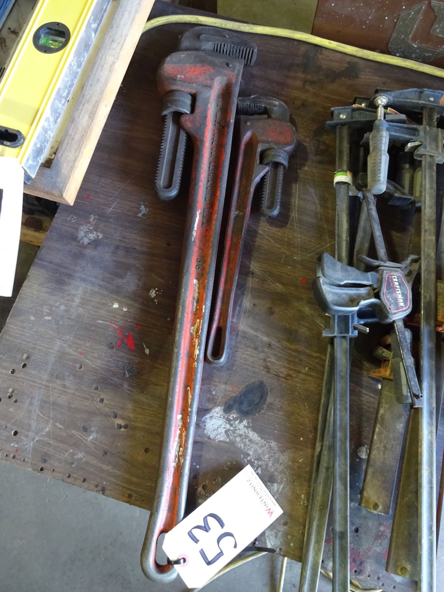 """Lot 53 - (2) PIPE WRENCHES, 36"""" AND 18"""""""