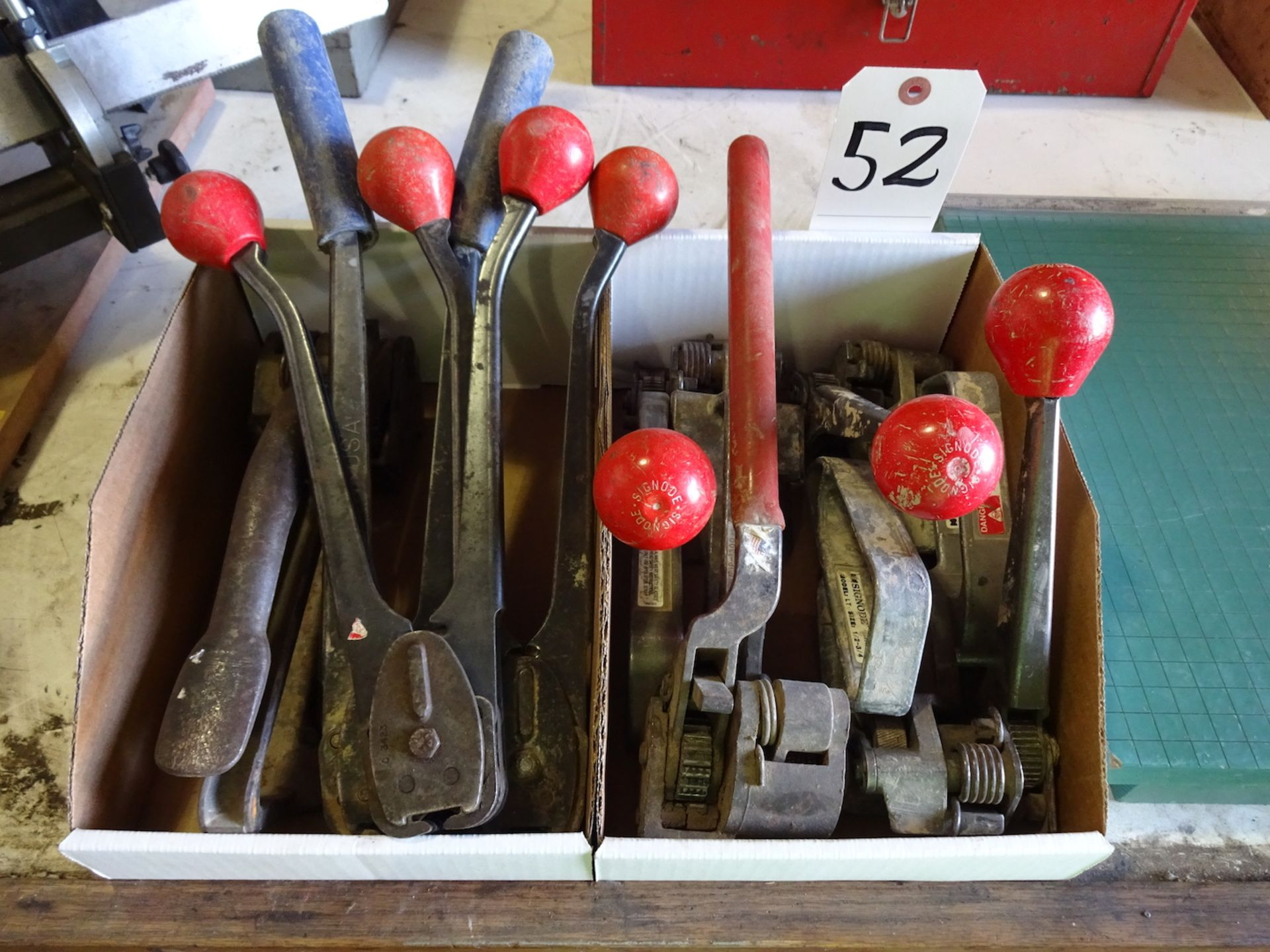 Lot 52 - ASSORTED BANDING TOOLS, TENSIONERS AND CRIMPERS
