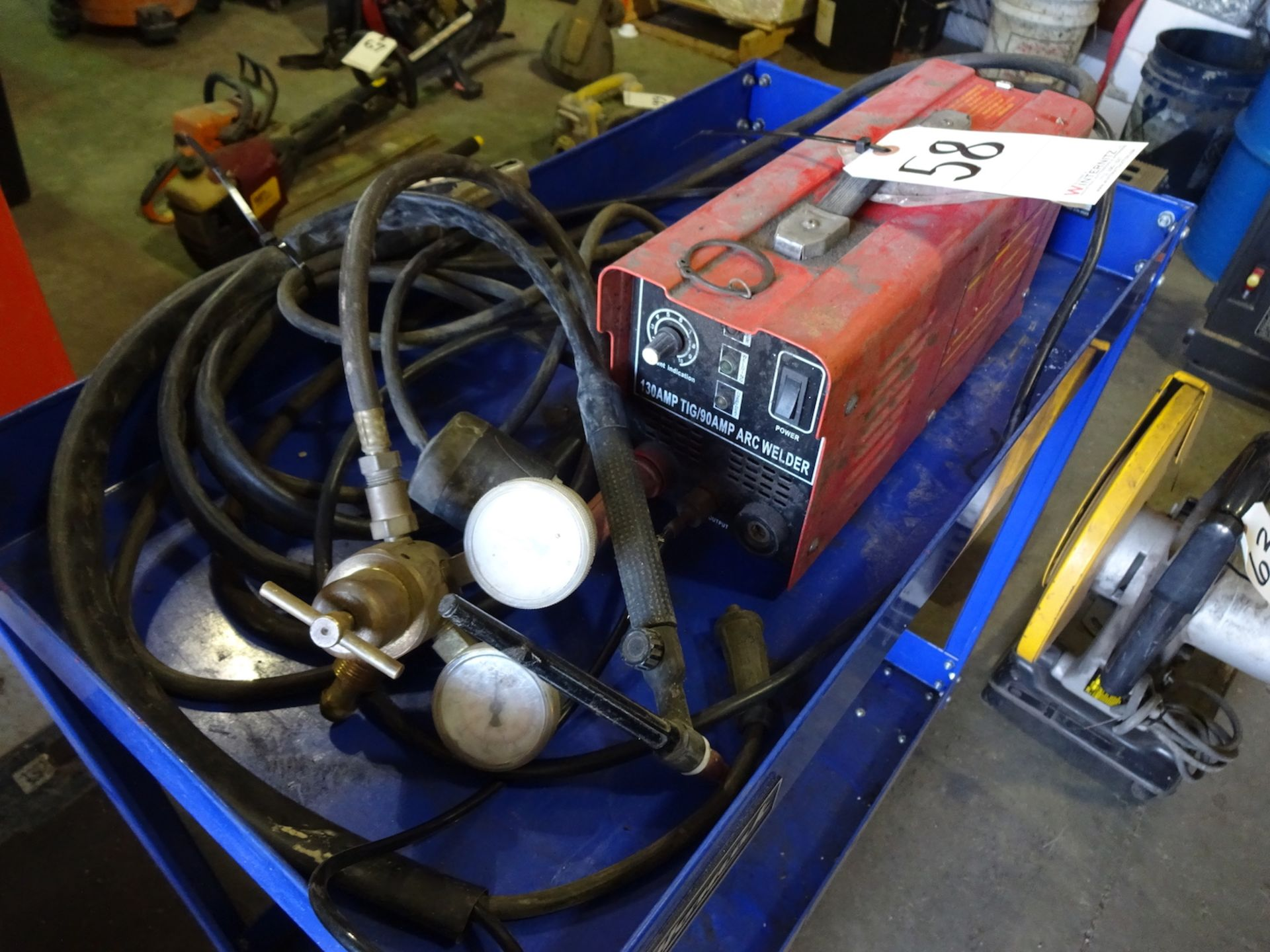 Lot 58 - CHICAGO ELECTRIC PORTABLE 130 AMP TIG/90 AMP ARC WELDER, #91811