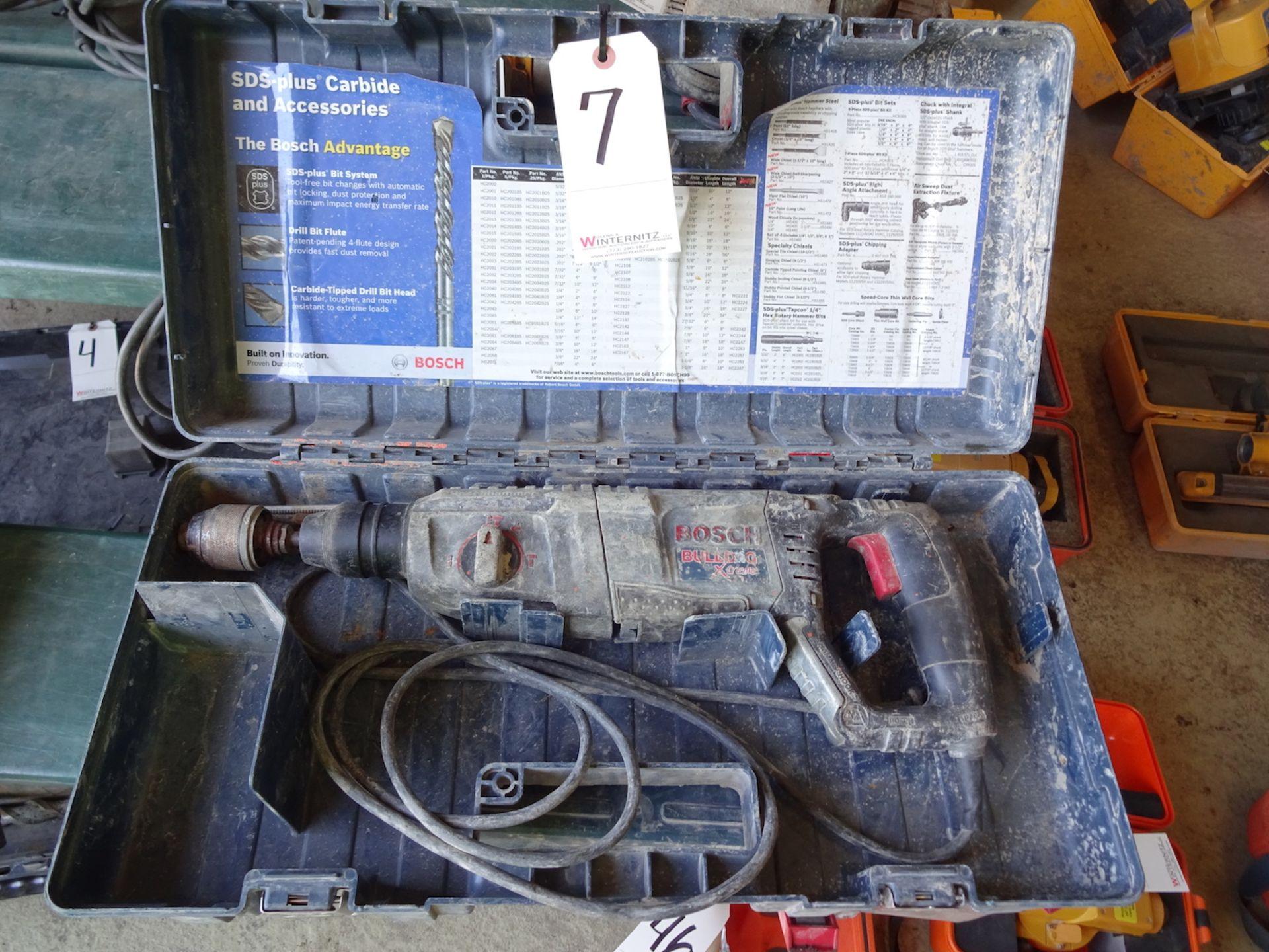 Lot 7 - BOSCH BULLDOG XTREME ROTARY HAMMER WITH CASE