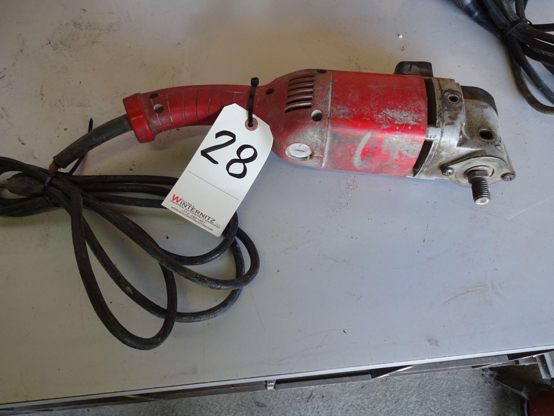 "Lot 28 - MILWAUKEE 7"" ELECTRIC POLISHER, CAT.#5455"