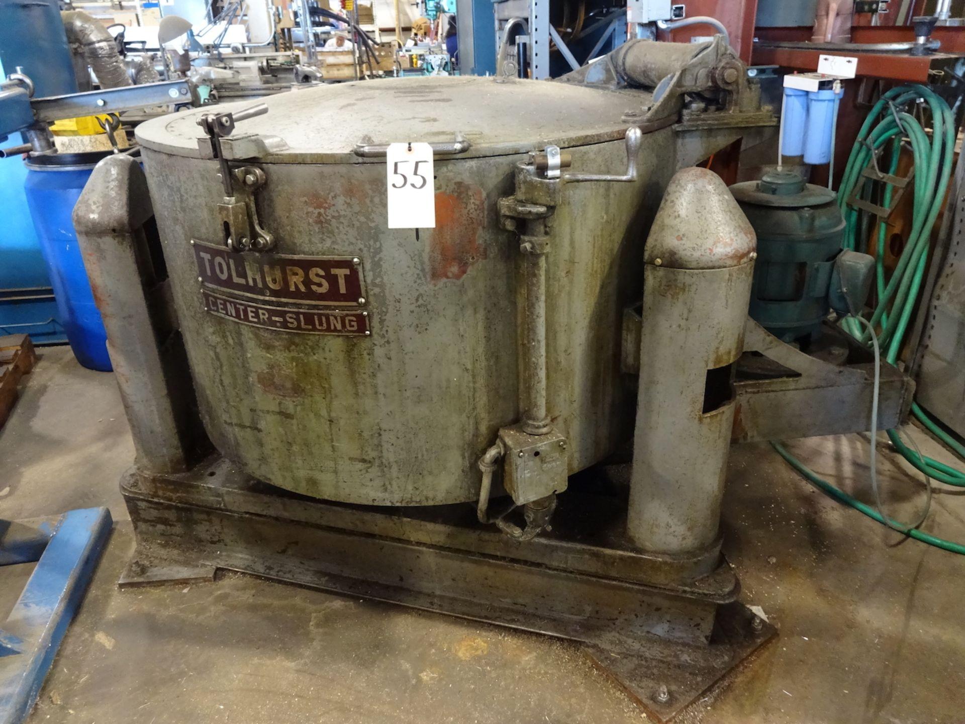 Lot 55 - Tolhurst Center-Slung Size 40 Oil Separator, S/N T88438, 700 RPM