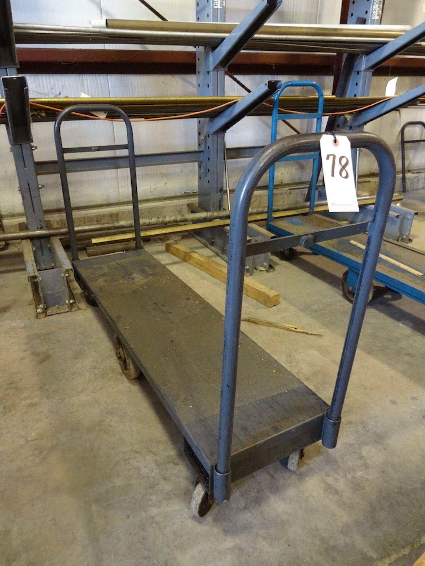 Lot 78 - 60 in. x 16 in. Shop Cart