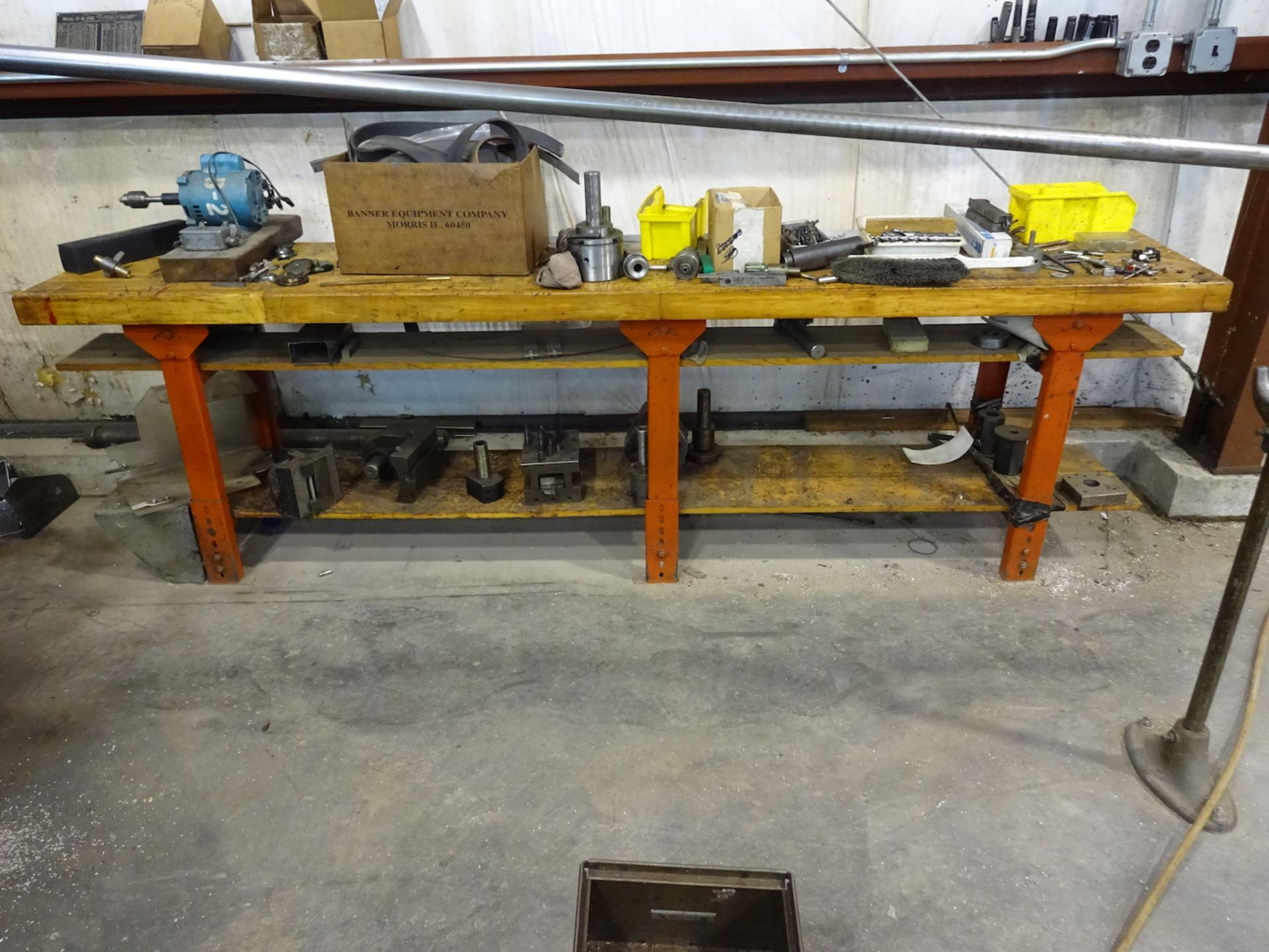 Lot 39 - 110.5 in. x 20 in. Wood Top Work Bench