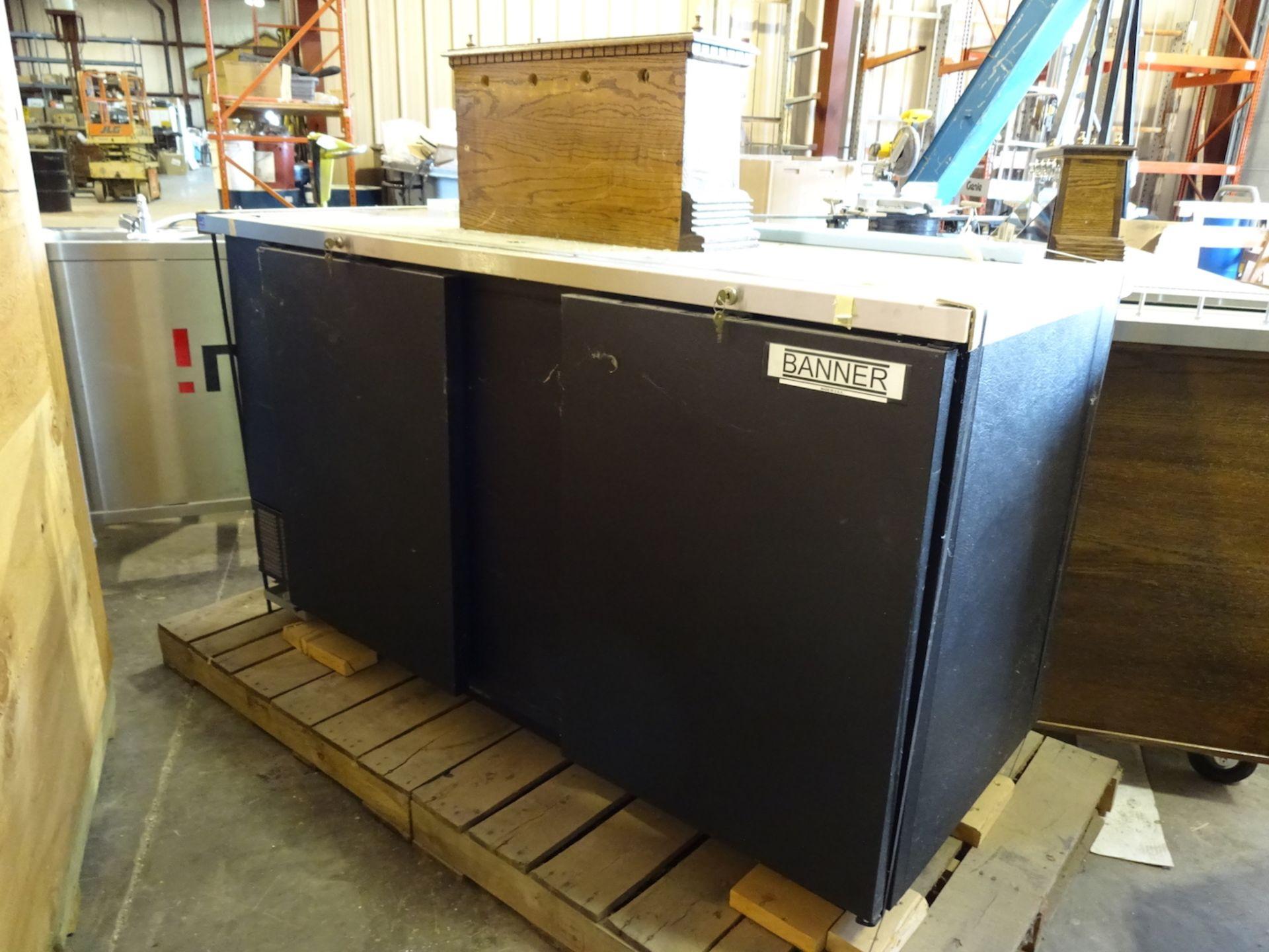 Lot 97 - Beverage Air 69 in. 3-Barrel Draft Beer Dispenser, Guinness Coffin Box