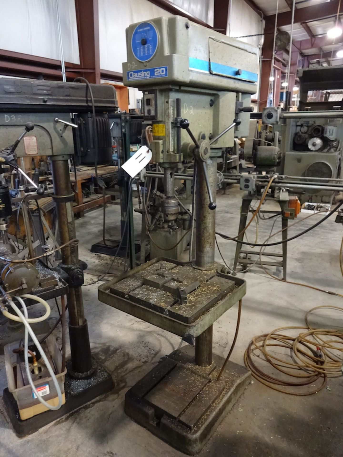 Lot 11 - Clausing Industrial 20 in. Model 2234 Variable Speed Floor Type Drill Press, S/N 110379, 1-1/2 HP,