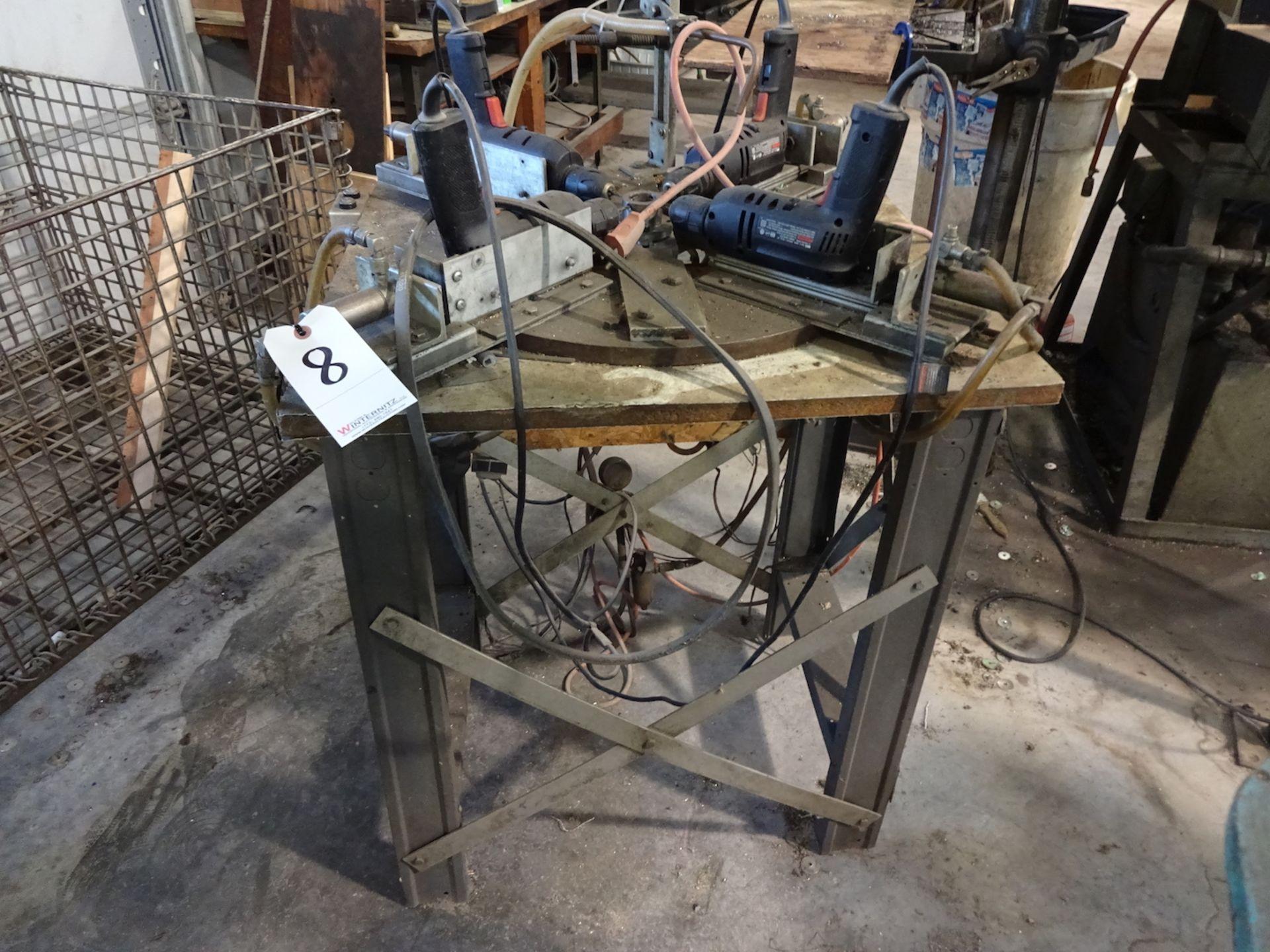 Lot 8 - Custom 4-Way Electric Drill Fixture