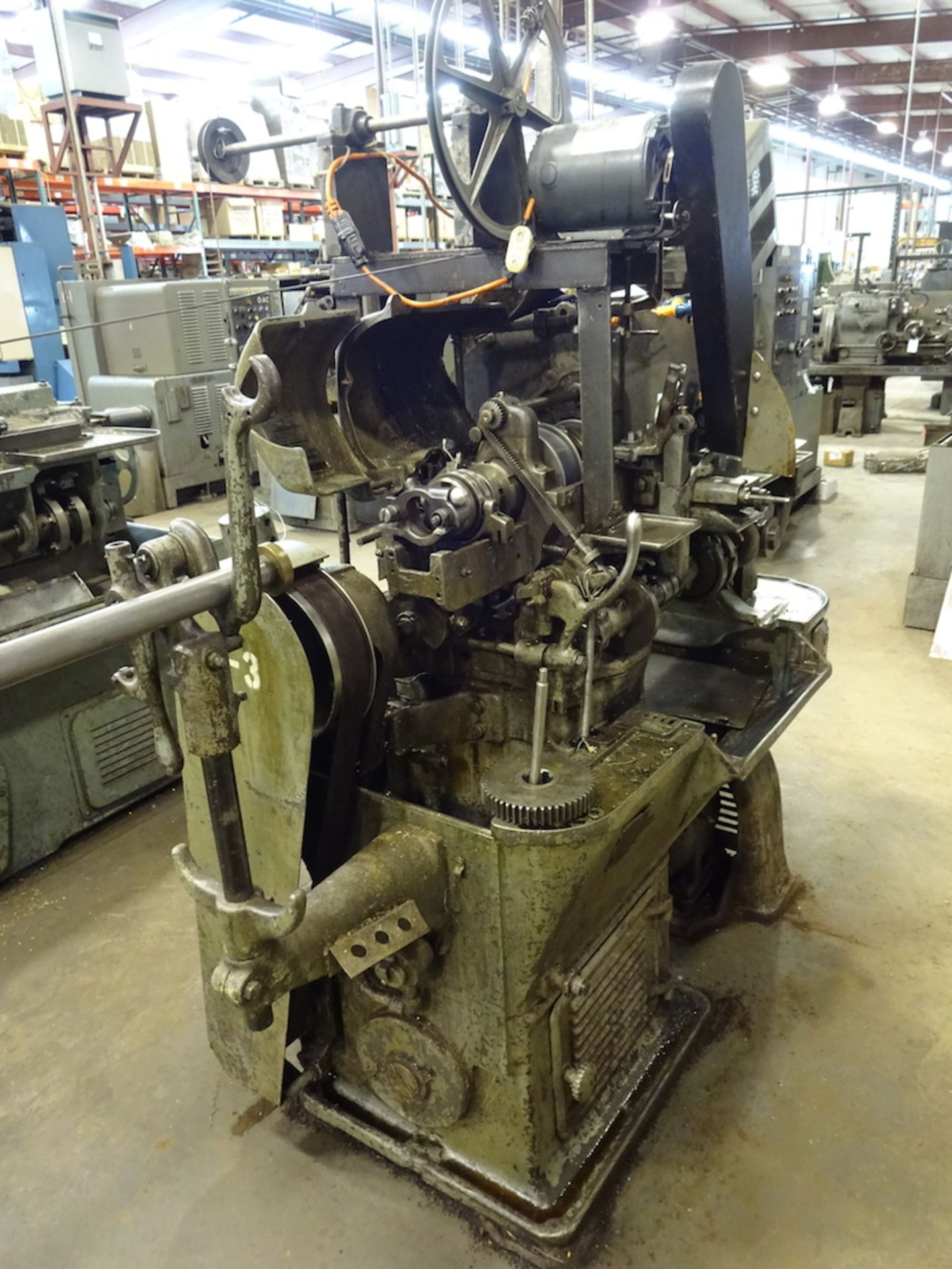 Lot 34 - Brown & Sharpe Single-Spindle Automatic Screw Machine, S/N 14161, Belt Drive