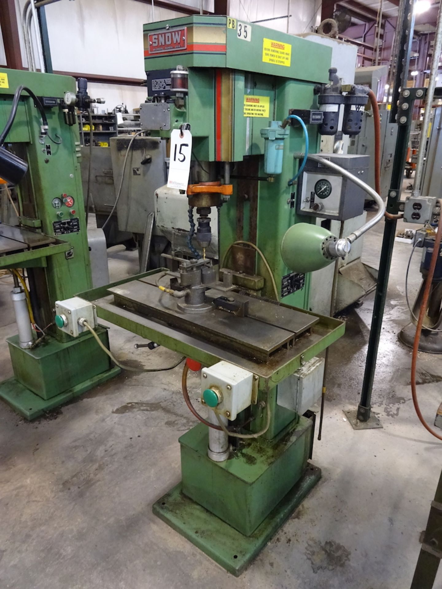 Lot 15 - Snow Model DR2-R Tapping Machine, S/N M42270-387, 1/2 HP, 635-3450 RPM