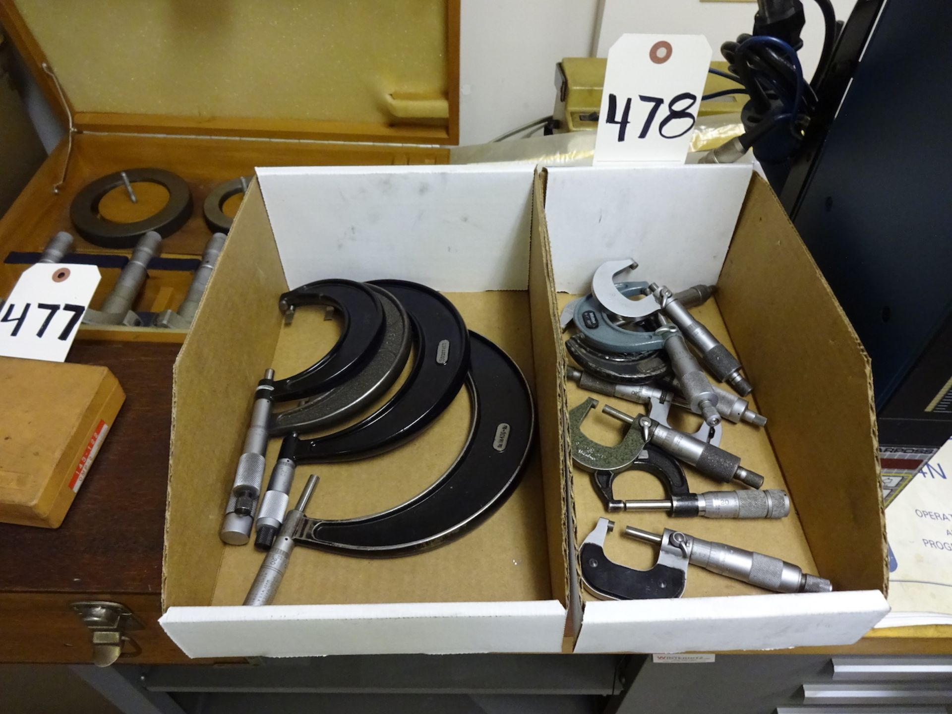 Lot 478 - LOT: Assorted Micrometers