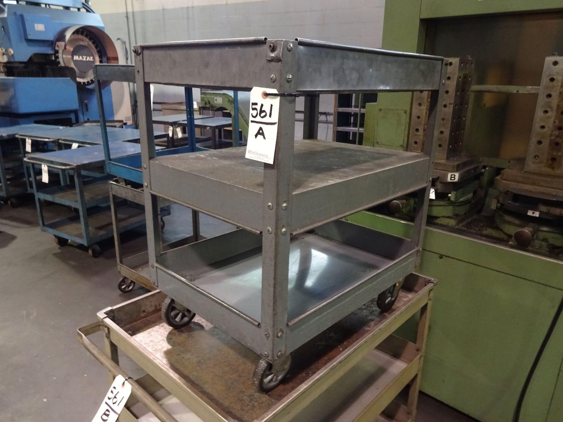 Lot 561A - Steel Shop Cart