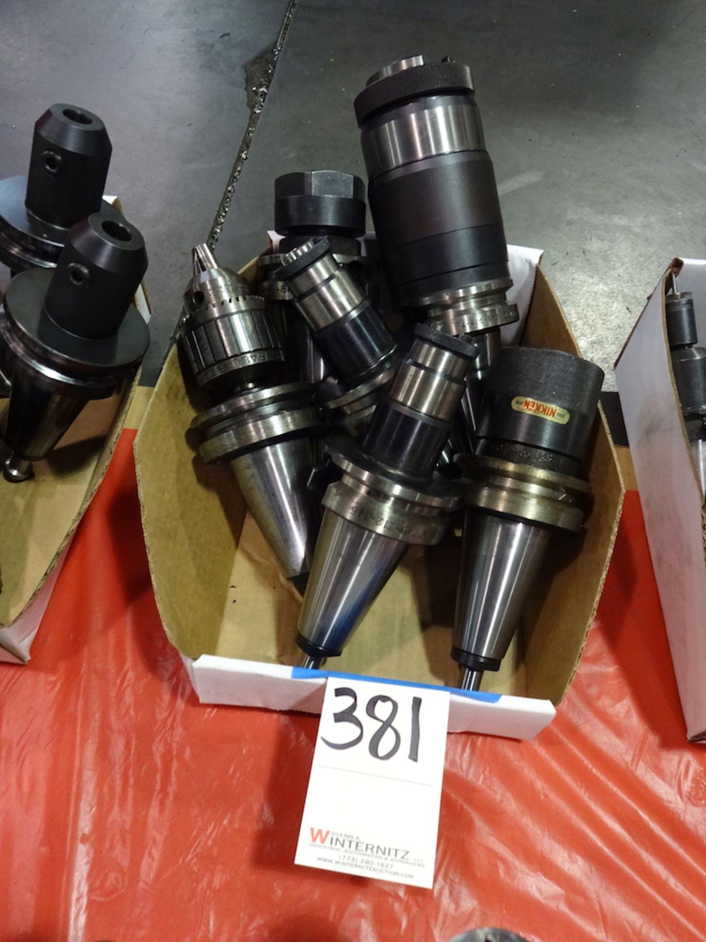 Lot 381 - LOT: (3) Assorted Tecnara & (3) Assorted Nikken 45 Taper CNC Tool Holders