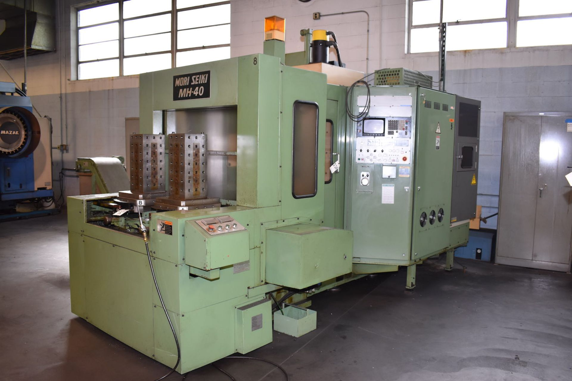Lot 220 - Mori Seiki Model MH-40 CNC Horizontal Machining Center, S/N 76 (1984), Fanuc System 11-M Control,