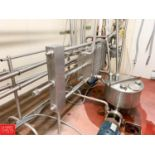 500 Gallon Per Hour Pasteurizer with APV S/S Frame Plate Heat Exchanger Model SRII S/N 26072, S/S