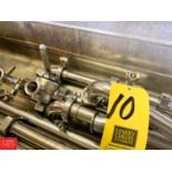 """1.5"""" S/S 3-Way Valves, Butterfly Valve, S/S Pipe and Clamps"""