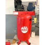 Mac Tools 6.5 HP Air Compressor Code C-05 S/N 111420 with 80 Gallon Tank 208/230 Volts Single Phase,
