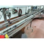"""24' S/S Frame Product Conveyor with 4"""" Wide Plastic Table Top Chain and Drive"""