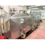 Cherry Burrell 3-Compartment Dome-Top Insulated S/S Flavor Tank with (3) 300 Gallon Compartments,