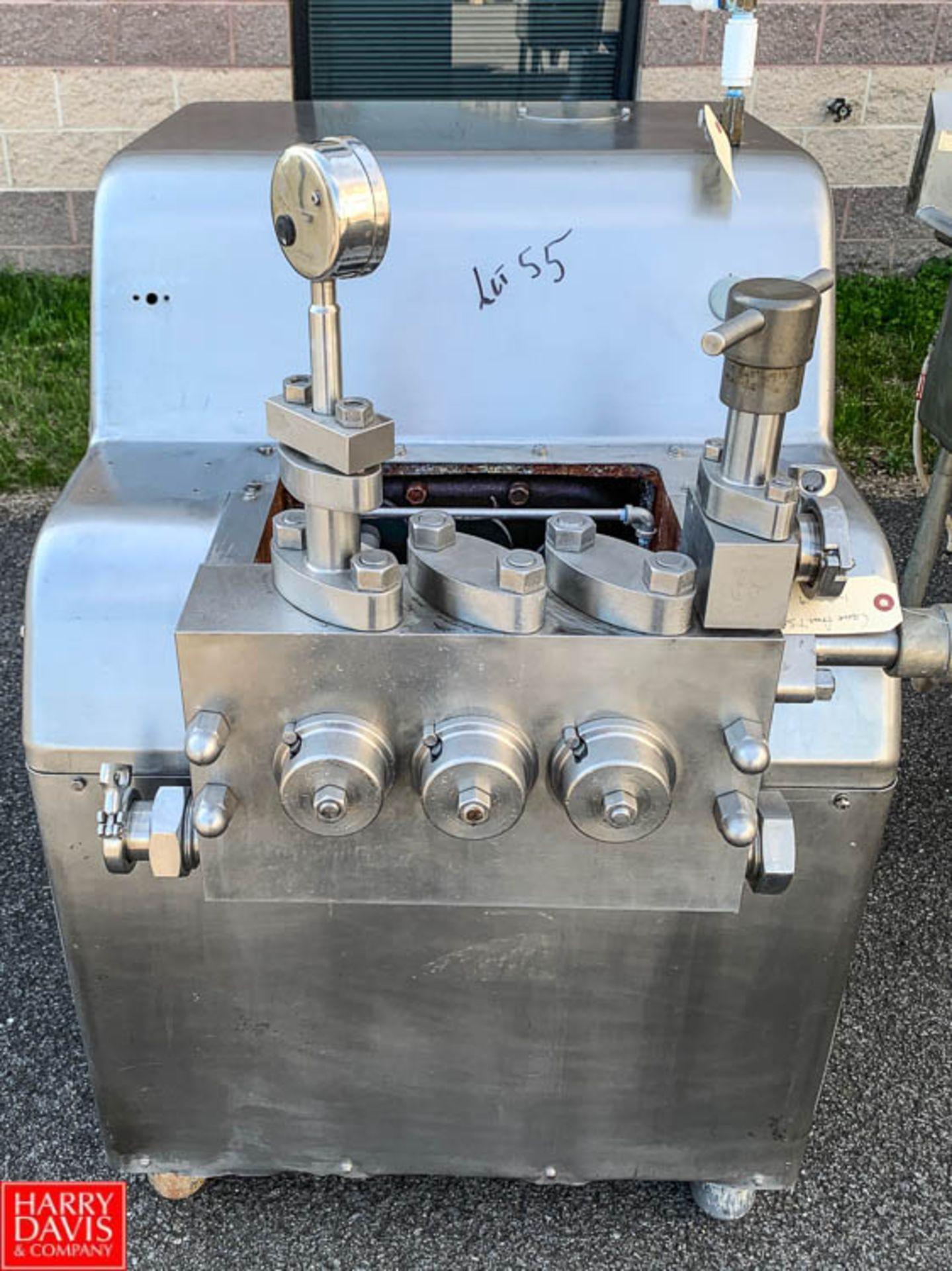 Lot 55 - Cherry Burrell Super Homogenizer, Model SS-1800-VBR, S/N 1395 - Rigging Fee: $25