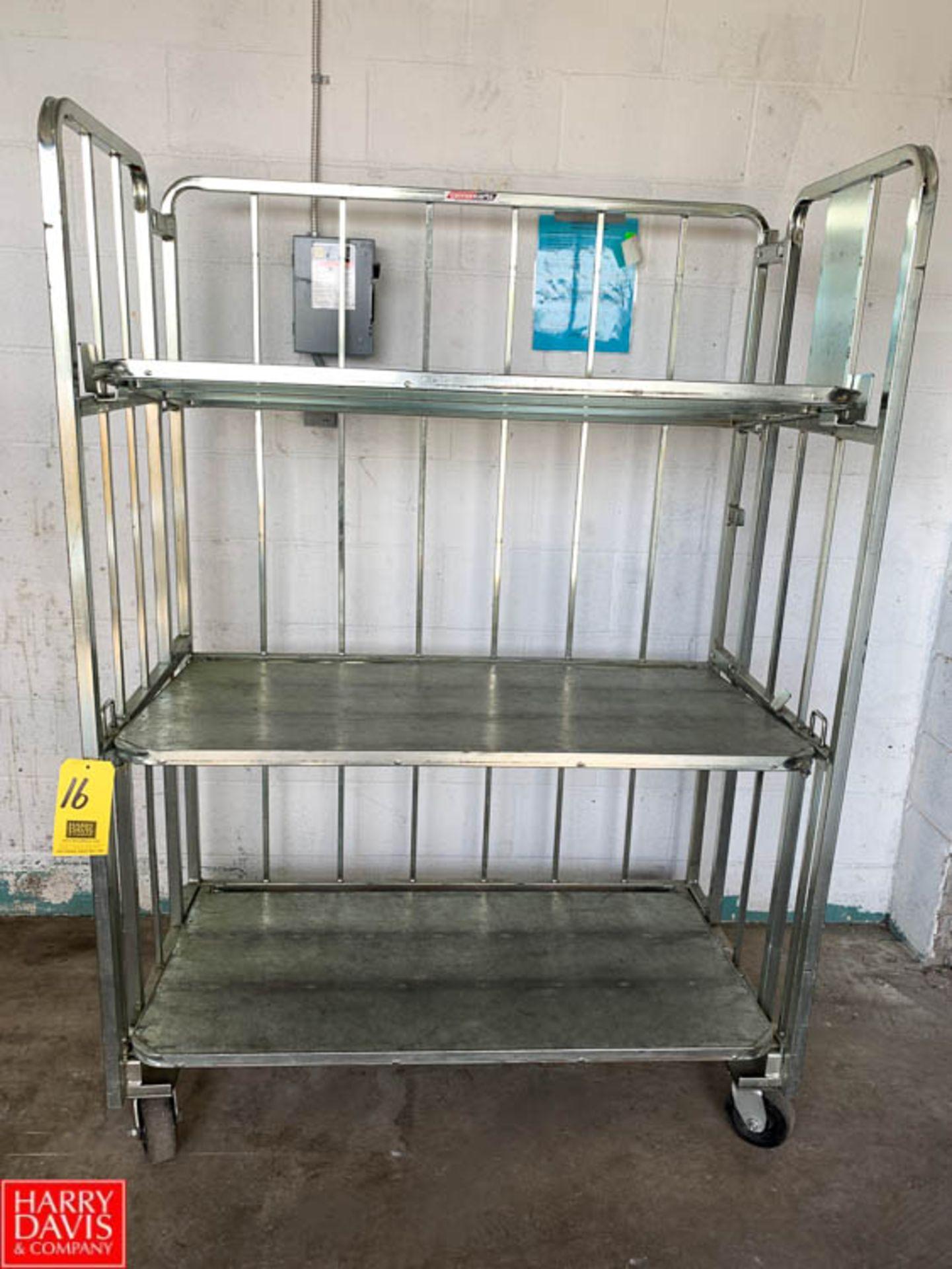 Lot 16 - Cannon 84 Gallon S/S Bossy Cart, Model 4-13MM83-0263-300 - Rigging Fee: $10