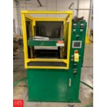 """Rubber City Machinery Rebuilt Wabash, 18"""" x 18"""", 75-Ton, 4-Post Self-Contained Lab Press Rigging"""