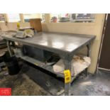 """Little Giant 36"""" x 72"""" Steel Work Table with Under Shelf Rigging Fee: 50"""