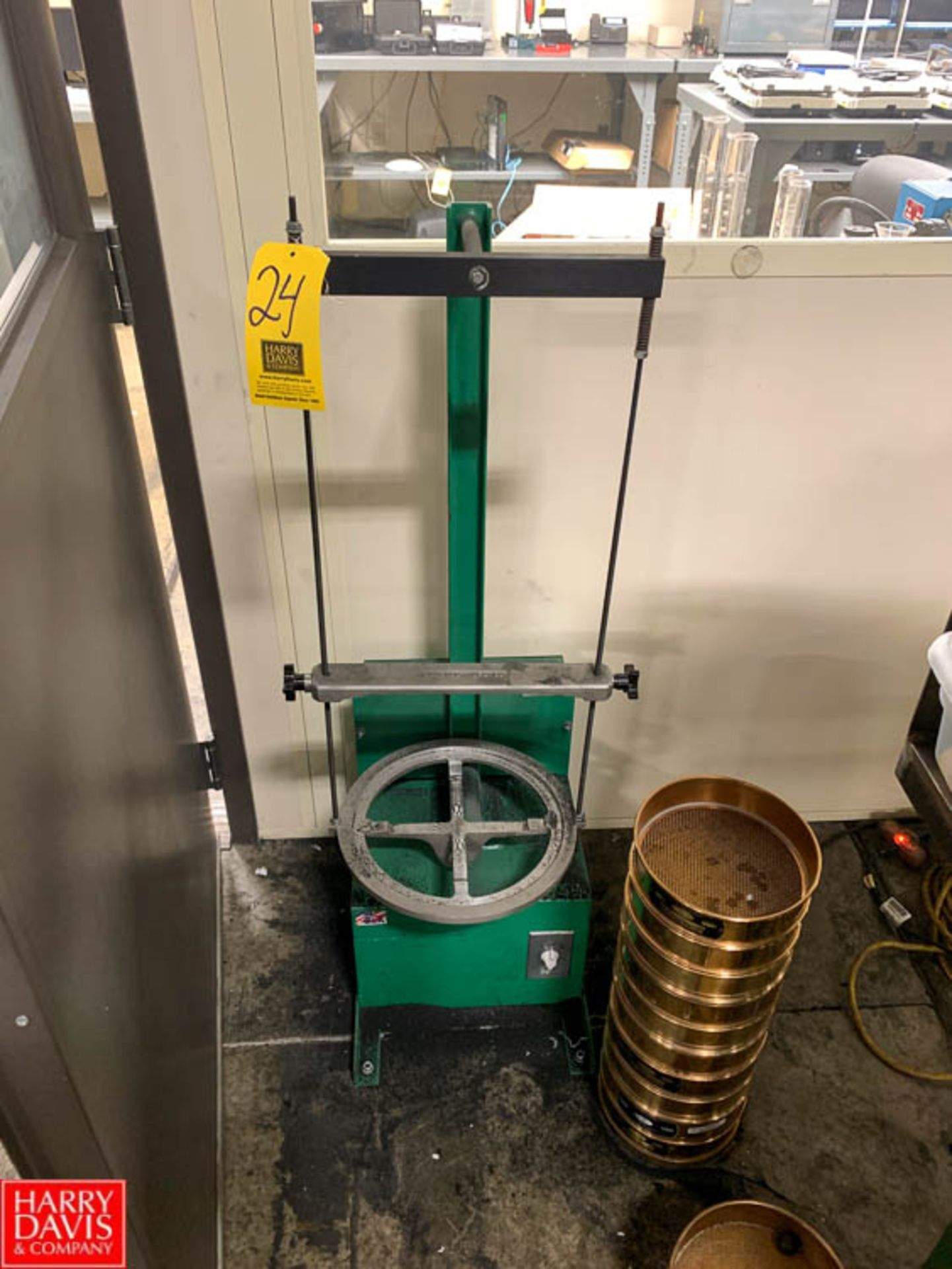 Lot 24 - Dual Sieve Shaker, Model D-4330, with (28) Sieves Rigging Fee: 150