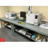 """36"""" x 72"""" Steel Work Tables with Undershelves Rigging Fee: 75"""