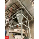 Cone Bottom Feed Hopper with Smoot Air Lock and Stand Rigging Fee: 2750