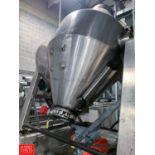 Feldmeier S/S Dual Cone Vacuum Dryer, S/N D-20052, 250ºF Full Vacuum 14 Psi, Mounted on Load Cells