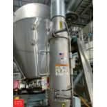 """Eriez 5"""" Cartridge Magnet Style 9700944, S/N 391661/2, with over 5 Feet of 4"""" Pipe and 90º Swept"""