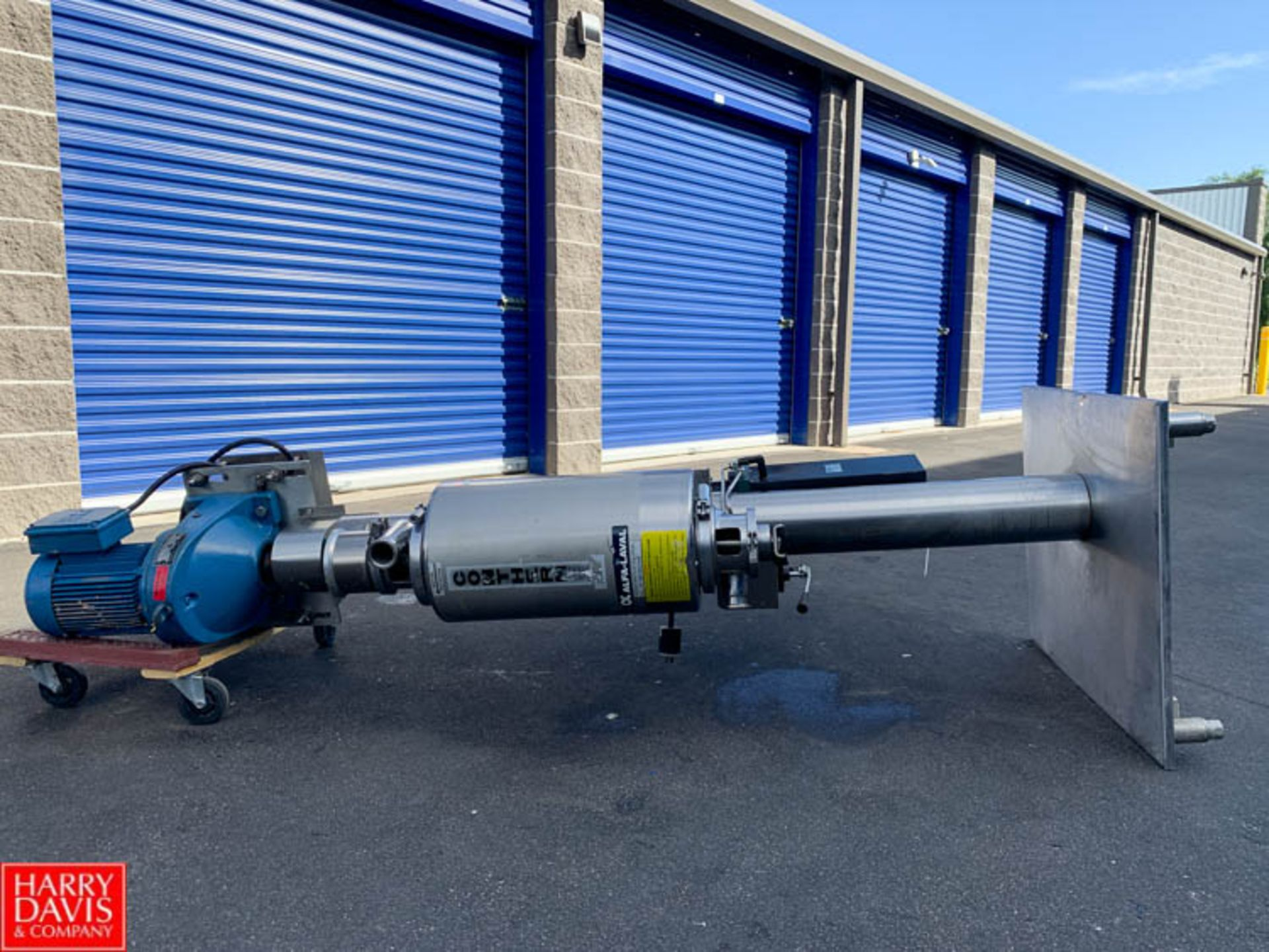 Lot 3 - Alfa Laval Scrape-Surface S/S Contherm Model 6 X 3 (300 PSI at 600 Degrees F), Mounted on S/S