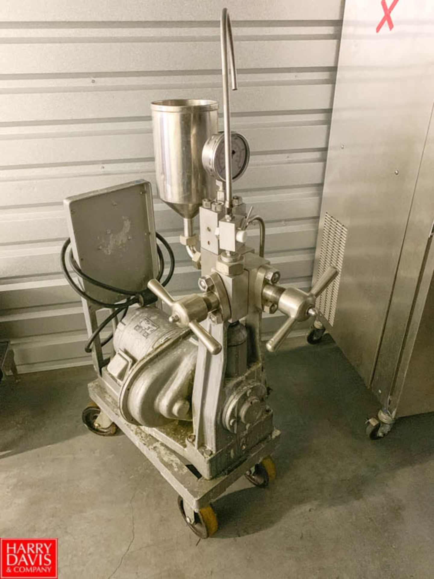 Lot 36 - Portable Homogenizer with 17.5 HP Wagner 1,450 RPM Induction Motor **Item Located in Denver,
