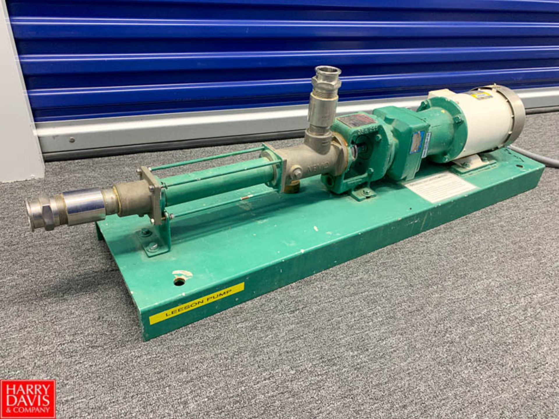 Lot 26 - Netzsch Cavity Pump Model NM021BY01L06B : SN 16183, with Nord Gear Reducer and 1 HP Leeson 1,725 RPM