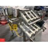 """Agnelli S/S Frame Portable Scrap Cutting Conveyor, 21"""" Width, with (3) Conveyor Drives and (2) Delta"""