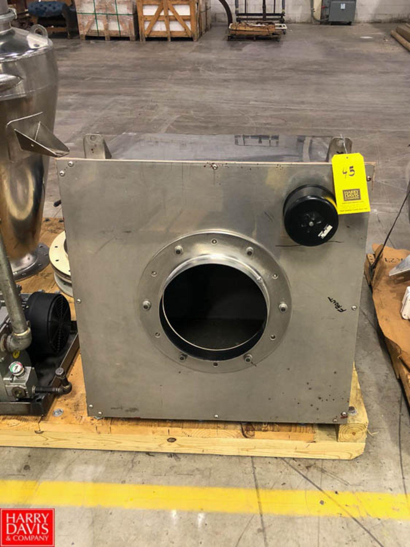 S/S Vacuum Powder Hopper Rigging Fee: $25
