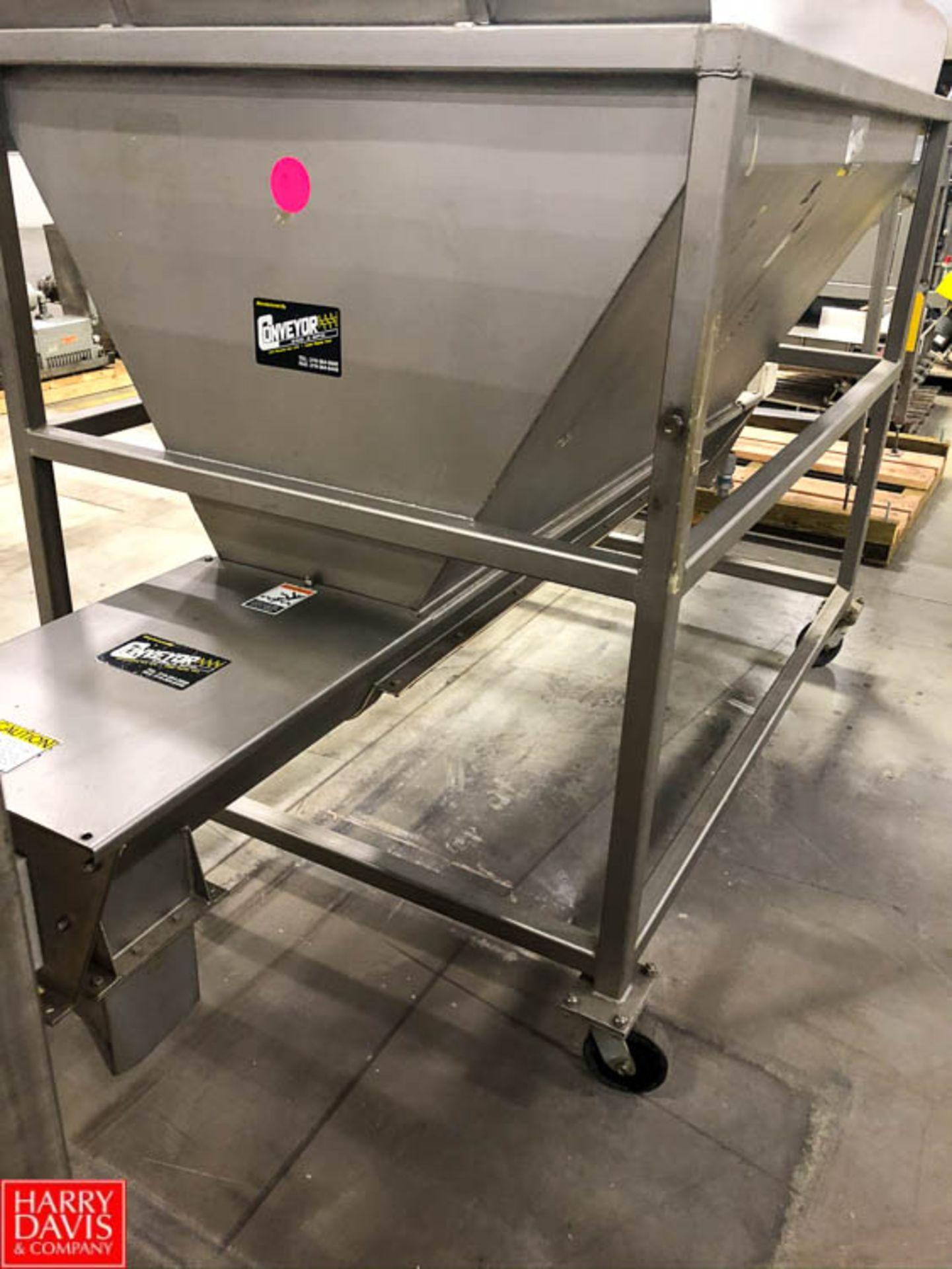 Conveyor Engineering Hopper with Auger Conveyor, 6' x 4.5' Rigging Fee: $75 - Image 3 of 3