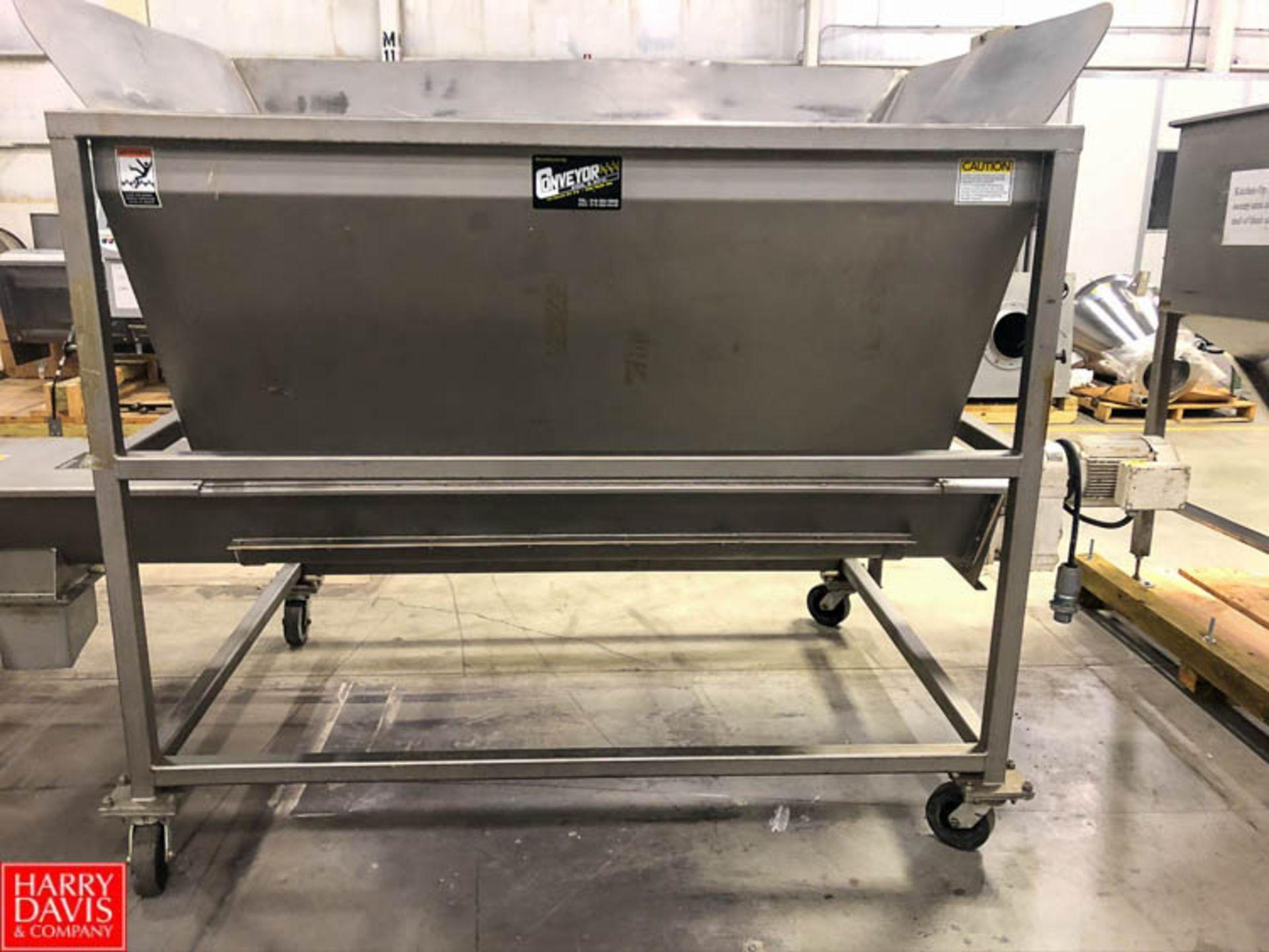 Conveyor Engineering Hopper with Auger Conveyor, 6' x 4.5' Rigging Fee: $75