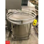"""Inline Filling Systems Accumulation Table, INC 1300, 36"""" Diameter Rigging Fee: $75"""
