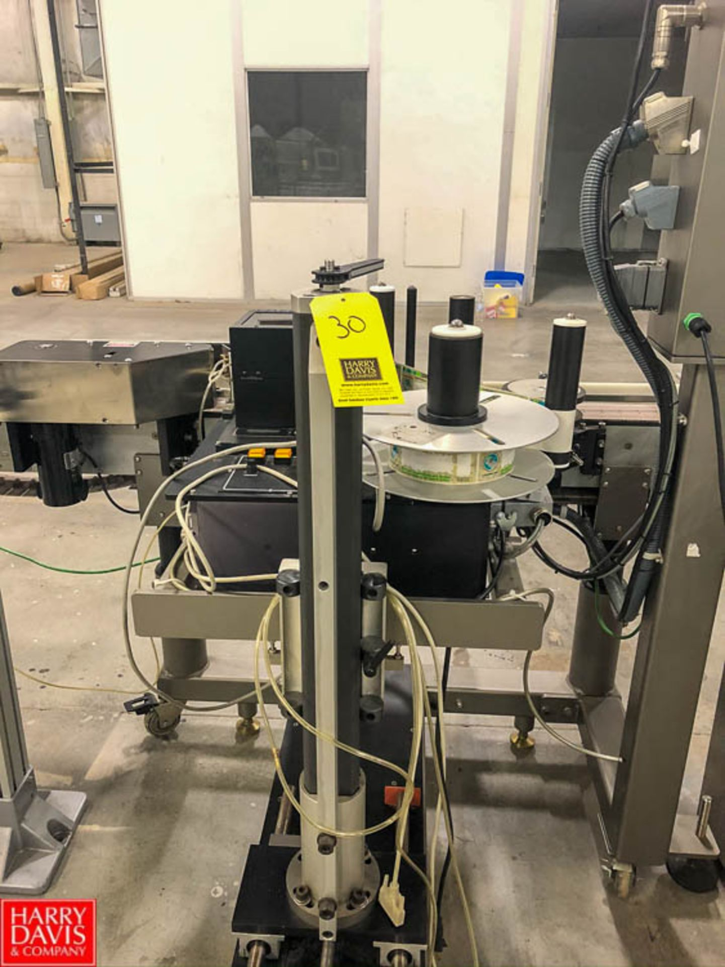 Labeling Systems Inc Labeler, Model 2997, S/N 18078SR, with Conveyor Rigging Fee: $75