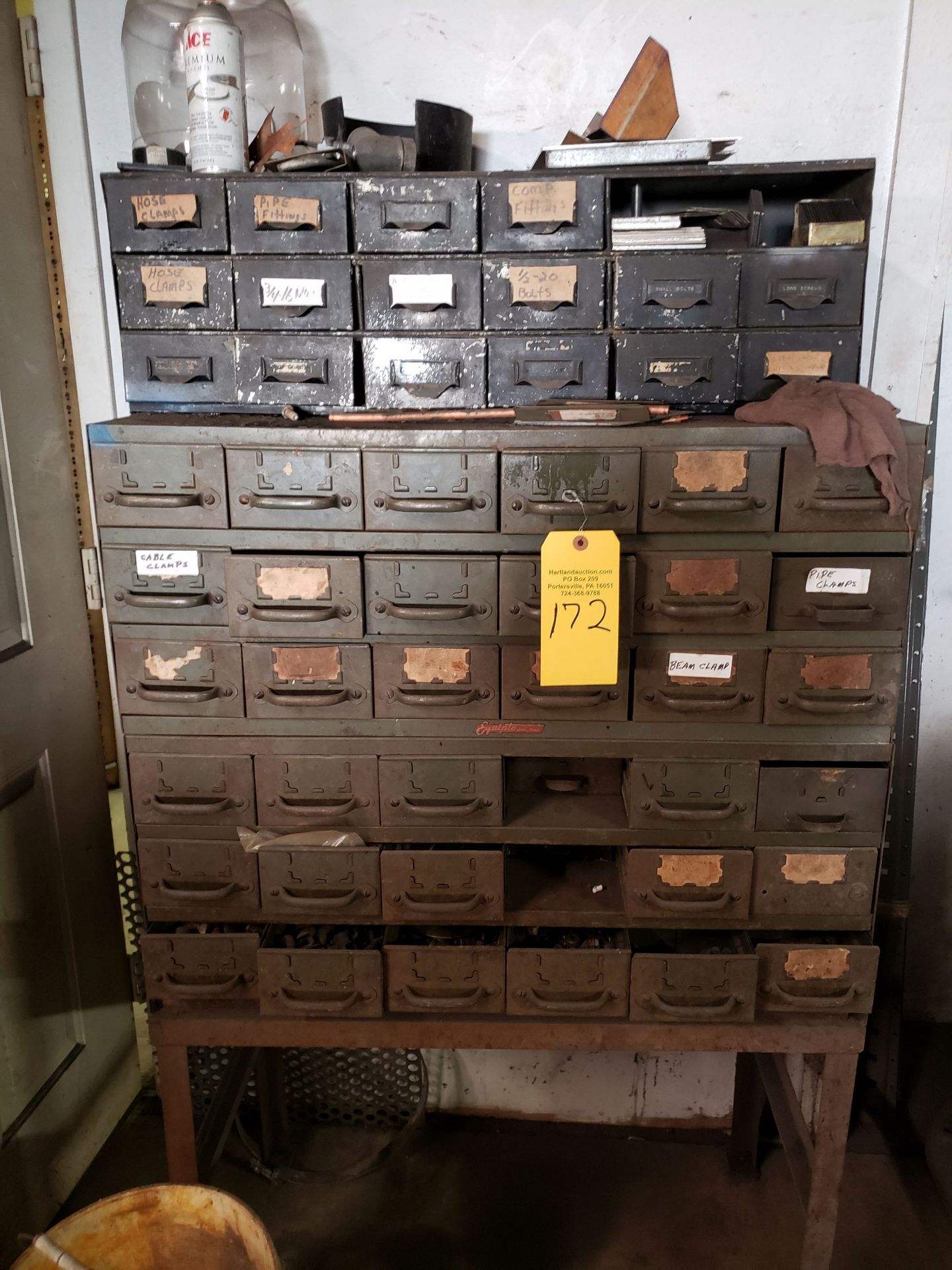 Lot 172 - STORAGE UNITS & CONTENTS FASTENERS ETC